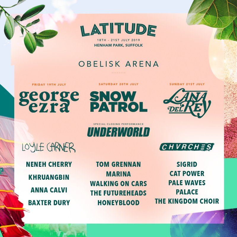 This is the description for the obelisk arena - And your headliners are.... Friday: George Ezra | Saturday: Snow Patrol | Sunday: Lana Del Ray and with a special closing performance it's Underworld