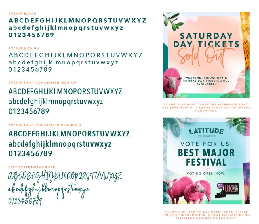 Latitude Festival | styleguide