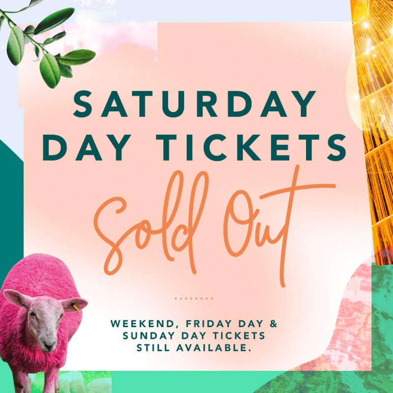 Saturday Day Tickets Sold Out!