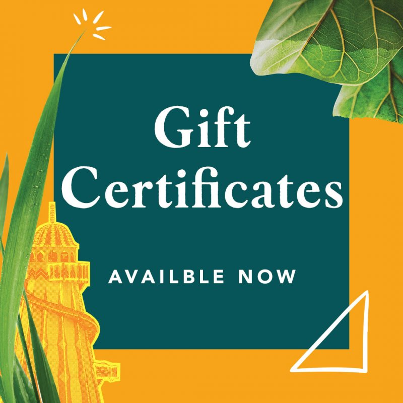 Gift Certificates available now