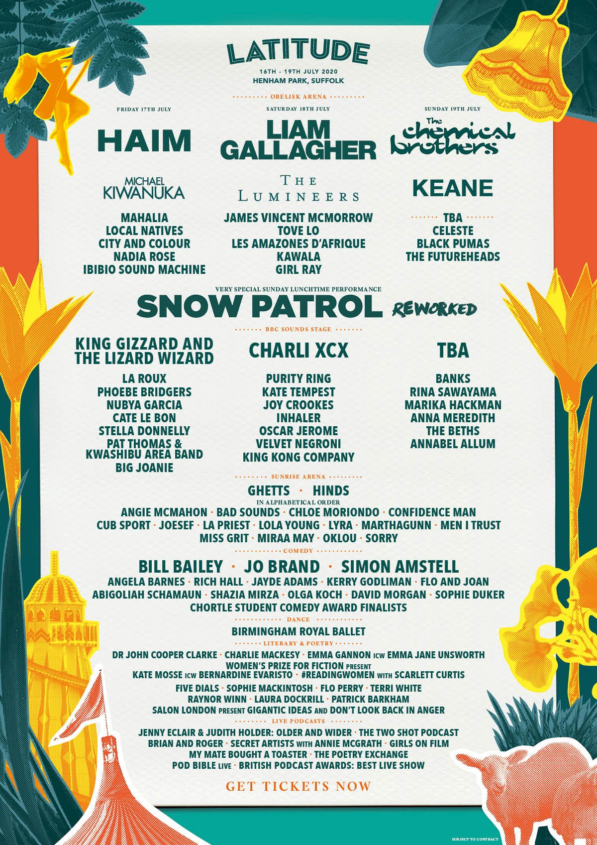Latitude 2020 Line Up Poster